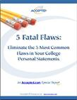 College 5 Fatal Flaws