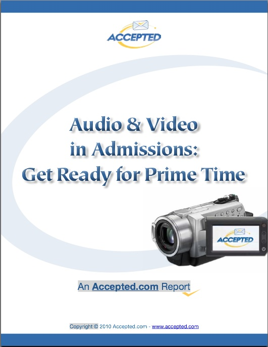 Audio & Video in Admissions