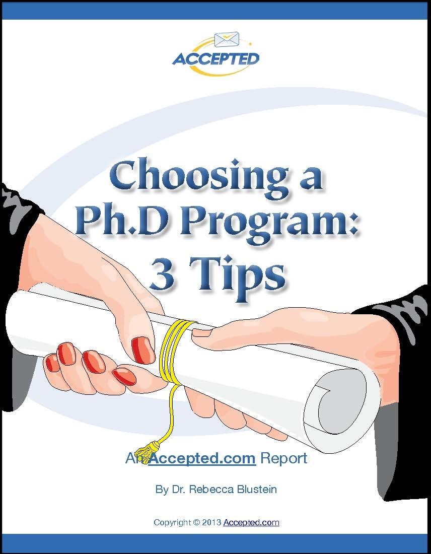 Choosing a PhD Program