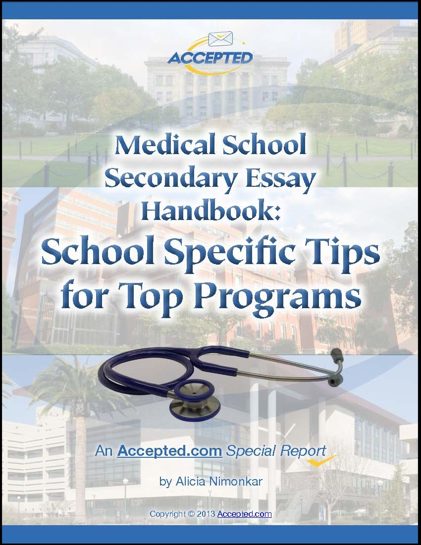Med School Secondary Essay Handbook