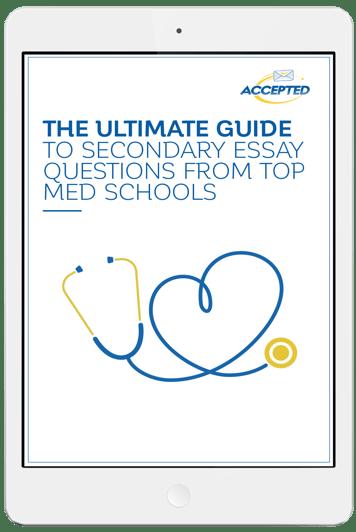 Medical school secondary essay help